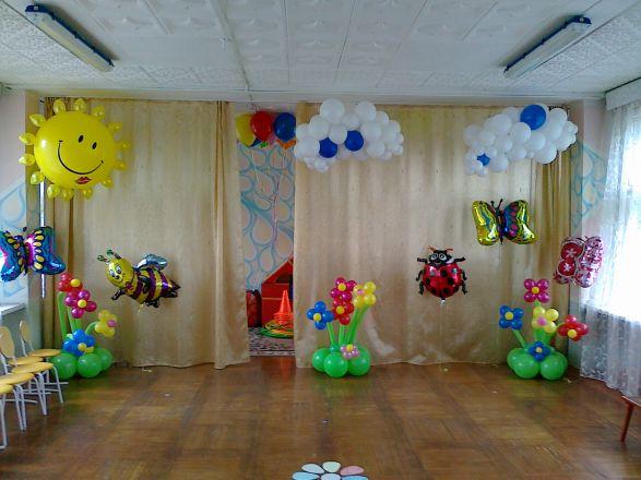 Как украсить вход в детский сад своими руками фото