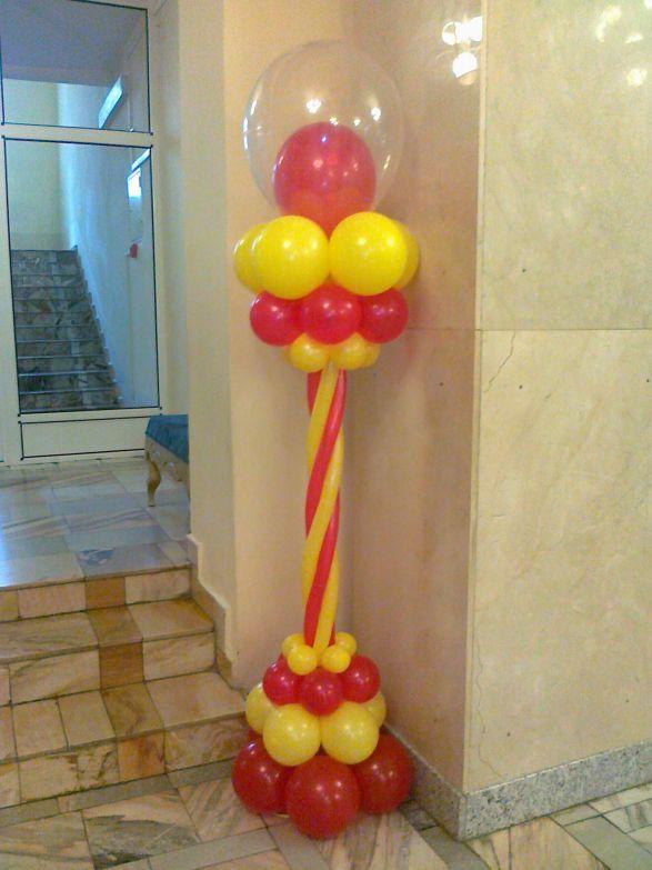 Как сделать стойки из шаров своими руками видео